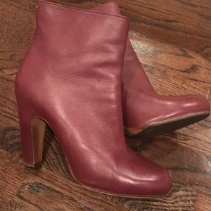 Perfectly Perfect! Deep Red Margiela Bootie.